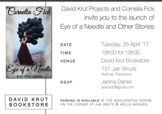 Eye of a Needle Book Launch Invitation